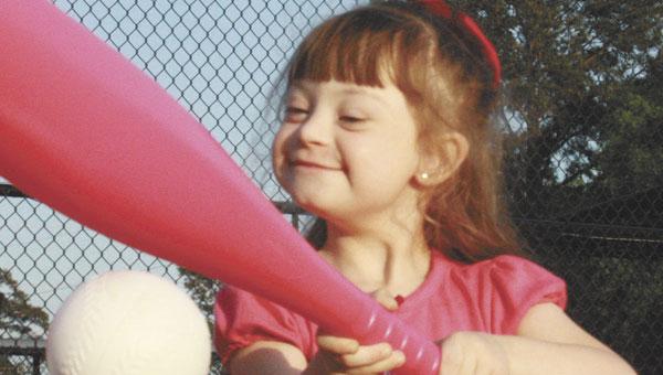 Ashlyn Stacey takes a turn at bat.
