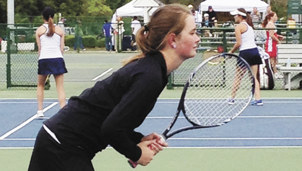 Andalusia's Sarah Atkinson competes in Thursday's state tournament. | Courtesy photo