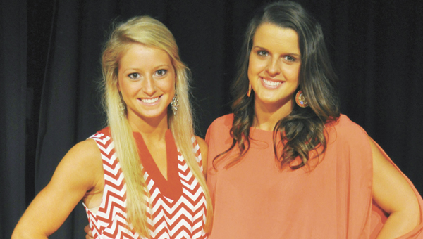 Savannah Gerber (left) and Jaci Parker will cheer on the Trojans this fall at Troy. | Courtesy photo