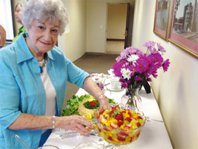 T&Rmember Jerri Stroud serves up selections from the 'Heart & Soul: Our Heritage Cookbook' Tuesday                  Stephanie Nelson/Star-News
