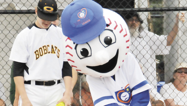 Homer gets a hit during the opening game of the Covington County Miracle League season April 30.   File photo