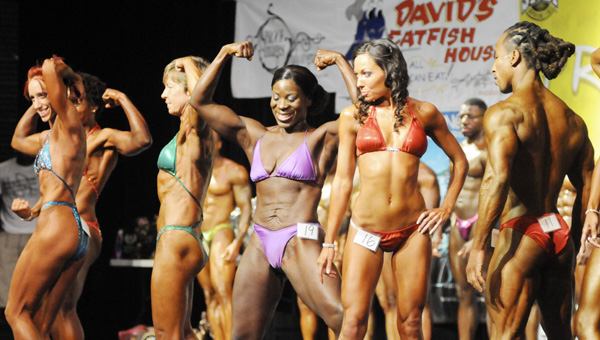 Men and women show off their stuff in front of judges during last year's event. | File photo