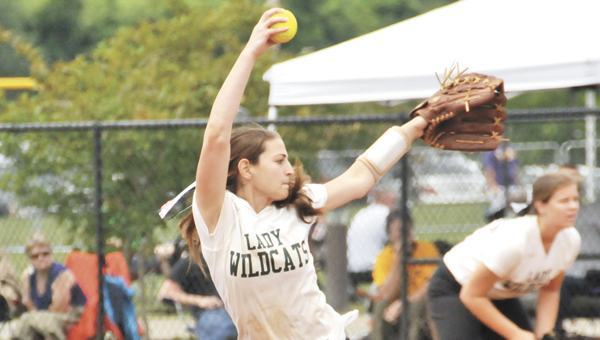 Florala freshman Lily Ritzel struck out 309 batters in her 37 games in 2013. The rising sophomore said it's her mission to raise the level of competition at FHS. Ritzel is shown here pitching at the Class 1A South Regional Softball Tournament in Gulf Shores in May. | Andrew Garner/Star-News