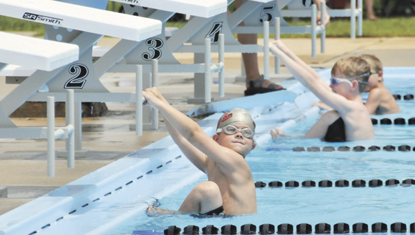 This Stingrays swimmer was ready to go Saturday during Andalusia's home swim meet at Cooper Pool. |                                                                   Andrew Garner/Star-News