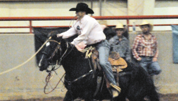 Opp rider Clay Elmore competes at the state finals in June in Andalusia. Elmore will compete in the calf roping event at the National High School Rodeo Association Finals in Rocky Springs, Wyo. | File photo