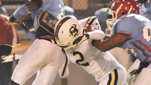 Former Straughn senior Dillan Conner (2) played in the 2013 Alabama High School Athletic Association All-Star Sports Week football game Thursday night.                       File photo