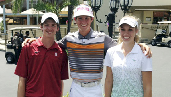 Straughn's Brooks Rabren (center) is shown here with the other two Alabama participants. | Courtesy photo