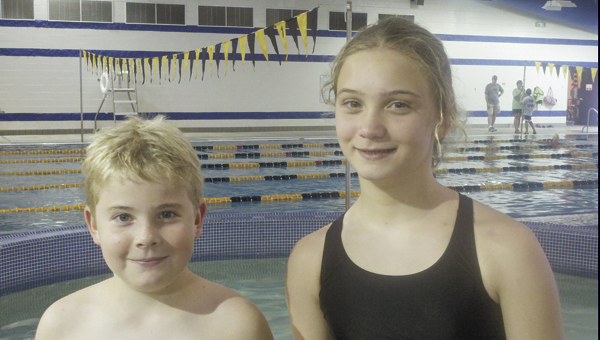 Aidan Vines (left) and Ava Bailey have competed at the state tournament level other than in swimming this summer. |                                              Courtesy photo