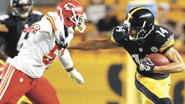 Andalusia native Nico Johnson (57) will not play in Kansas City's preseason game tonight against the Green Bay Packers. Johnson suffered a mild high ankle sprain during Saturday's 26-20 overtime win over Pittsburgh. | AP Photo