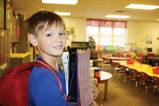 Caleb Blackstock said he was excited to begin the fifth grade at AES.