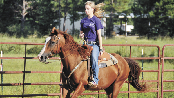Pleasant Home junior Hannah Seymore will get her rodeo season started this weekend at the 12th annual Covington Cowgirls Drill Team Alabama Junior and High School Rodeo at the Covington Center Arena in Andalusia. |                                                      Andrew Garner/Star-News