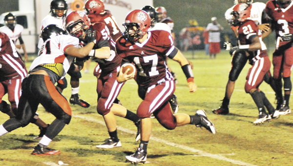 Andalusia quarterback Michael McCalman rushed for 156 yards on 20 carries and scored three touchdowns last week. |                                                                                                                             Andrew Garner/Star-News