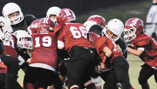 Andalusia's youth football teams swept Straughn Saturday during action at Andalusia High School's Municipal Stadium. |                                                                                                                                  Andrew Garner/Star-News