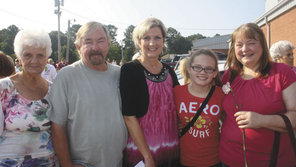 T      he Andalusia Middle School campus was swarming with grandparents Thursday as the student body hosted its annual Grandparents Day event. Students performed dances, read poems and ended the day with a reception for those grandparents attending the day's festivities. Above: Emily Jordan and her family - Barbara Teel, John and Pat Powell and Louise Jordan. | Stephanie Nelson/Star-News