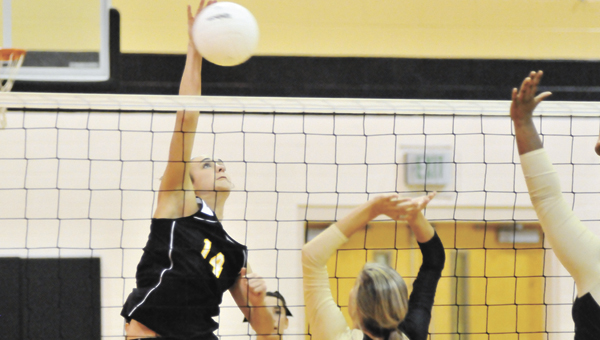 Opp's Laiken Free had 18 kills to lead the Lady Bobcats Tuesday night. OHS next plays Pleasant Home on tomorrow. |                                                                                                                                                               Andrew Garner/Star-News