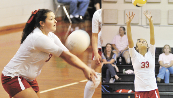 Pleasant Home seniors Brianna Dozier (left) and Ashley Williamson (right) moved up to the varsity rankings and didn't miss a beat. | Andrew Garner/Star-News