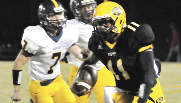 Opp's Ty White rushed for 159 yards on seven carries and was accountable for two touchdowns to earn this week's Star-News Player of the Week honors.   Andrew Garner/Star-News