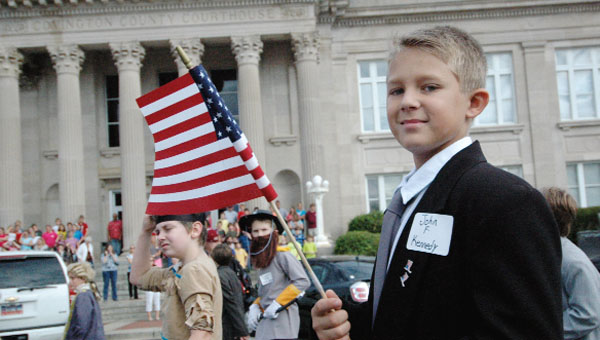 Living History was held Thursday morning on the town square.