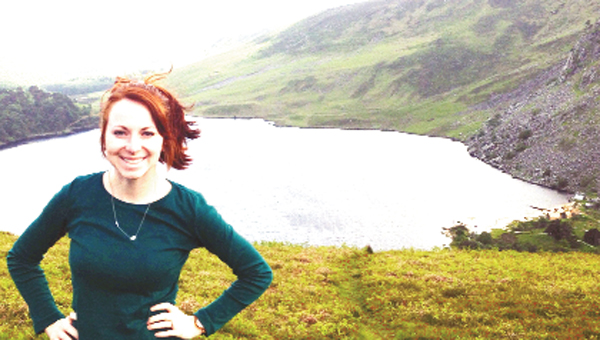 McKathan is shown in Ireland. She recently completed a study-abroad internship, which she describes as something she will remember fondly.