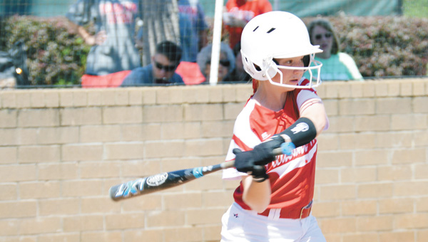 Pleasant Home's Hope Gunter swings at a pitch Thursday. | Josh Dutton/Star-News