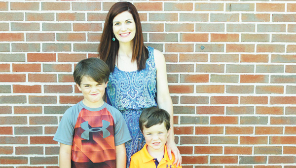Tori Adams is shown with her sons Parker and Cody.   Courtesy photo
