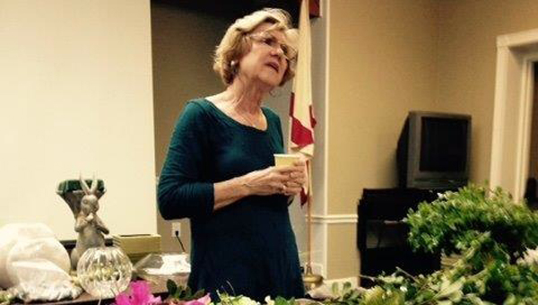 Shown is Barbara Posey, who gave a flower arrangement presentation for the Inter Se club, recently. | Courtesy photo