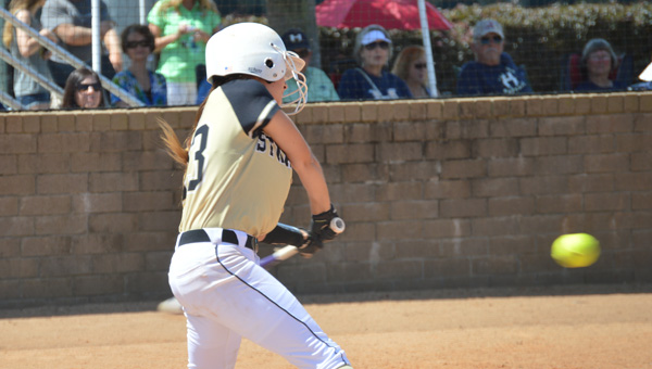 Straughn's Molly Stewart swings at a pitch Friday. | Josh Dutton/Star-News