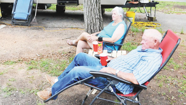 Shown are Vernell Berry and Barbara Ballard, who are camping at Sweet Home Alabama Campground and RV Park on Pt. A.