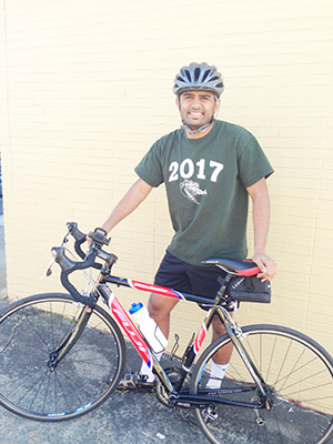 UAB student Hiten Patel plans to bike 865 miles to raise awareness of and money for people with disabilities. Courtesy photos
