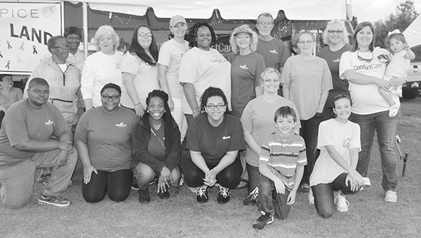 Comfort Care Hospice Vickie Wacaster, Mitzi Butler, Judy Ramsey, Ruth Duncan, Betty Shakespeare, Genny Lee, Sara Anderson, Kim Ray, Gina Hicks, Marty Wacaster, April Williams, Linsey Hicks, Tori Hicks, Kenly Wiggins, Cedric Williams, Symone Williams, Ava Anderson, Summer Brown, Belle Cooley, Shanise Harris, Tamara Griffin, Ruth Duncan, Mary Brazzell, Joanna Straughn, Michelle Brown, Phillip, Marley Straughn, Carter Straughn.