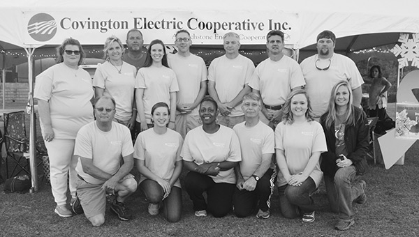 Covington Electric Cooperative Team members include Tracy Turner, Mark Parker, Patty S. Seay, Barry Bonds, Forrest Withrow, Chris Baker, Anna Worley, Katie Frasher, Kim Carter, Ricky Smith, Sandy Wilford, Lynn Stone Spann, Kimyola Shine, Bill Baggett, Jackie Crawford and Andy Willis.
