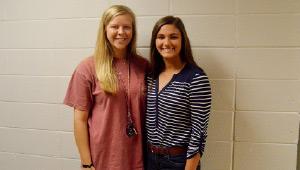 PHS valedictorian Cassidy Godwin and salutatorian Anna Bulger.